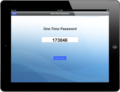 ipad one time password